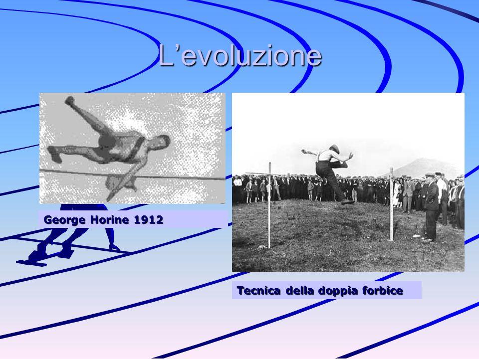 L'evoluzione George Horine 1912 Tecnica della doppia forbice