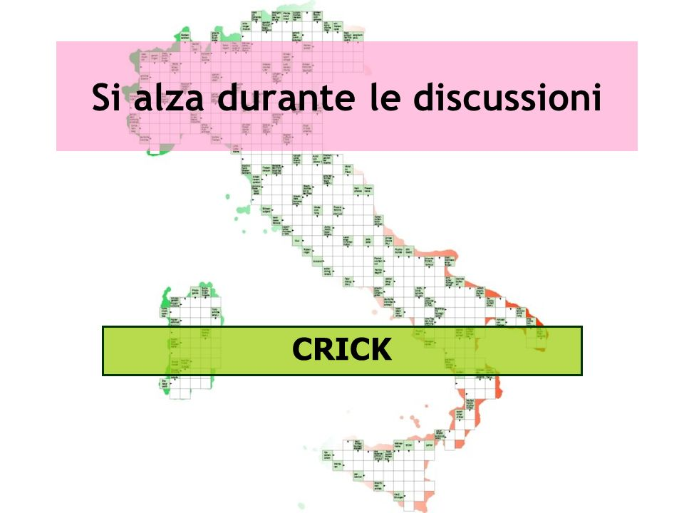 Si alza durante le discussioni