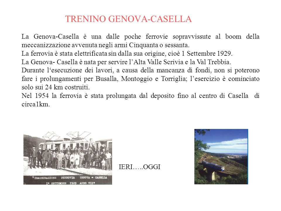 TRENINO GENOVA-CASELLA