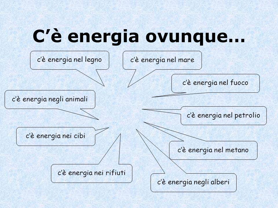 C'è energia ovunque… c'è energia nel legno c'è energia nel mare