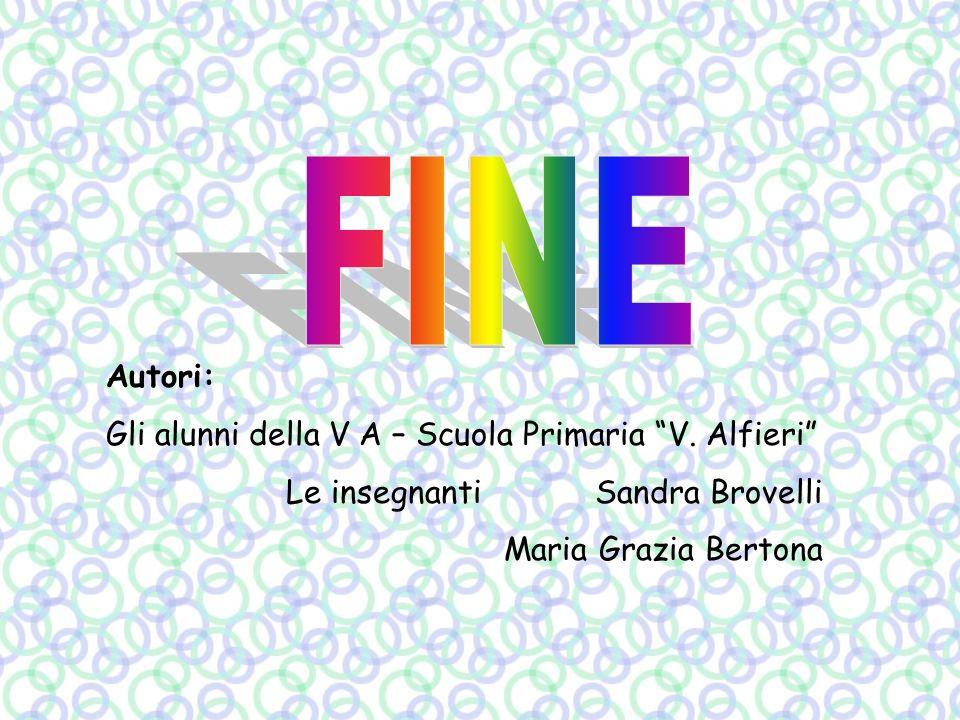 FINE Autori: Gli alunni della V A – Scuola Primaria V. Alfieri