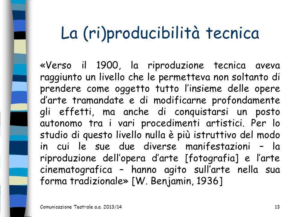 La (ri)producibilità tecnica