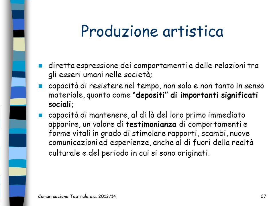 Produzione artistica diretta espressione dei comportamenti e delle relazioni tra gli esseri umani nelle società;