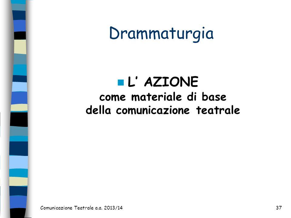 L' AZIONE come materiale di base della comunicazione teatrale