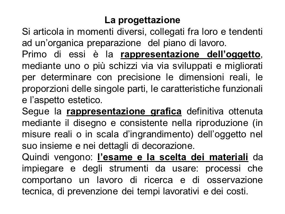La progettazione Si articola in momenti diversi, collegati fra loro e tendenti ad un'organica preparazione del piano di lavoro.