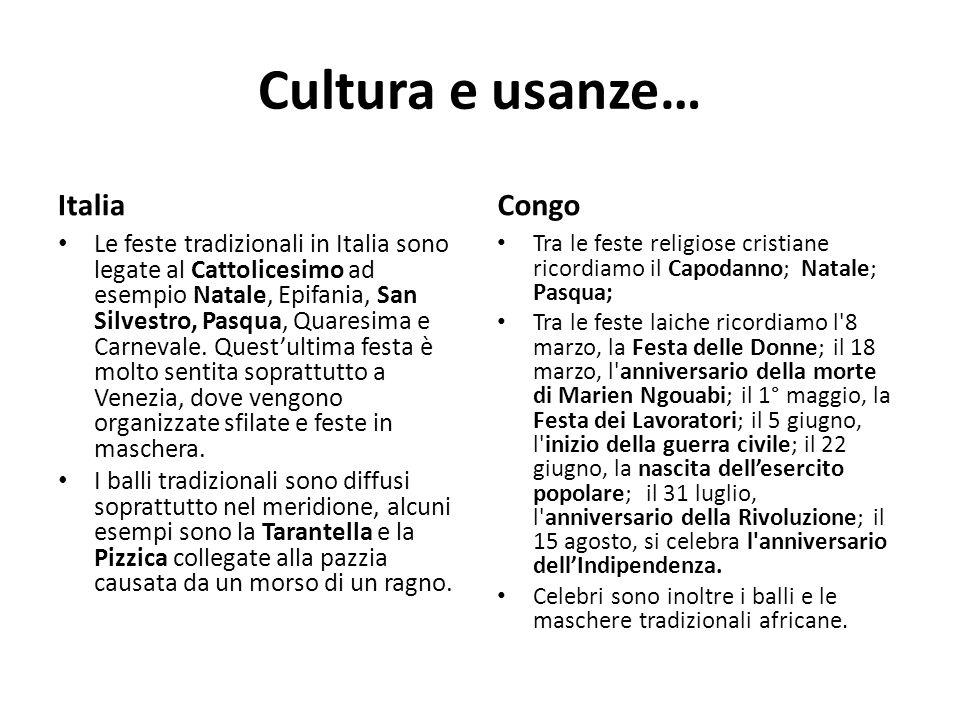 Cultura e usanze… Italia Congo