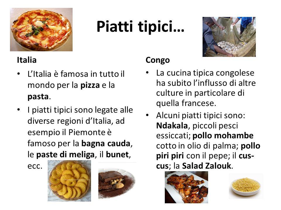Italia e congo ppt video online scaricare for Piatti tipici roma