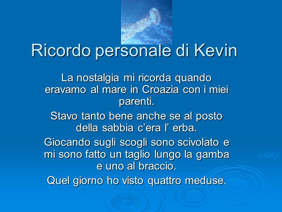 Ricordo personale di Kevin