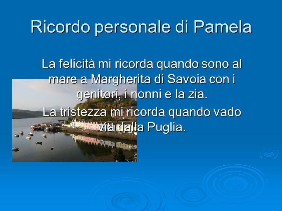 Ricordo personale di Pamela