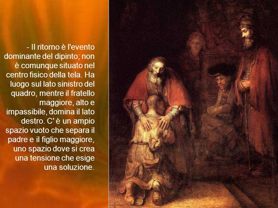 - Il ritorno è l evento dominante del dipinto; non è comunque situato nel centro fisico della tela.