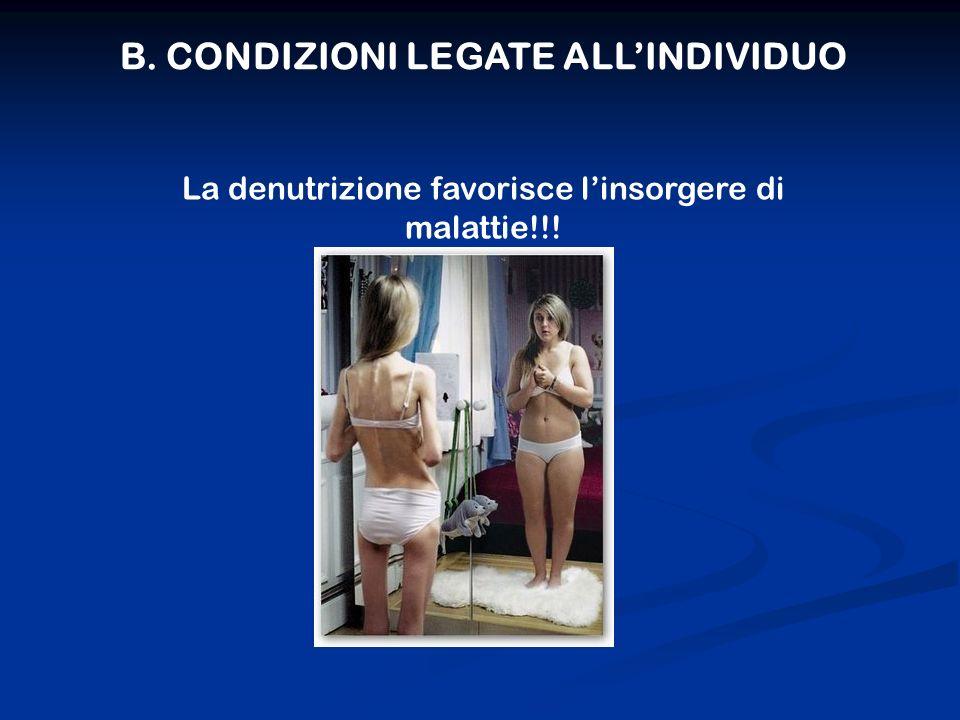 B. CONDIZIONI LEGATE ALL'INDIVIDUO
