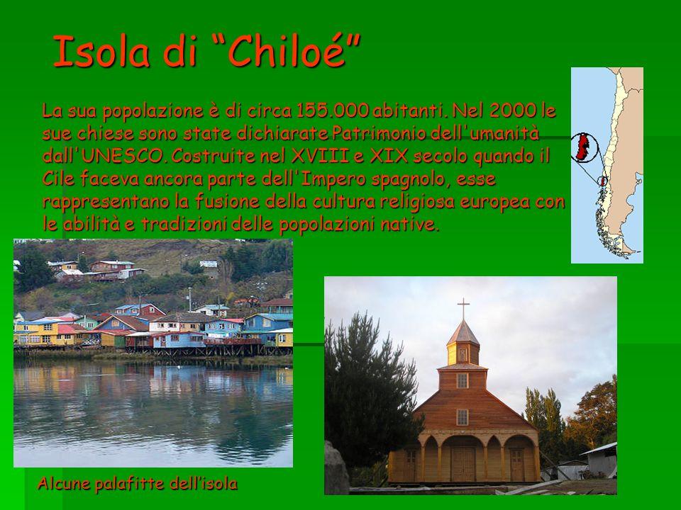 Isola di Chiloé La sua popolazione è di circa 155. 000 abitanti