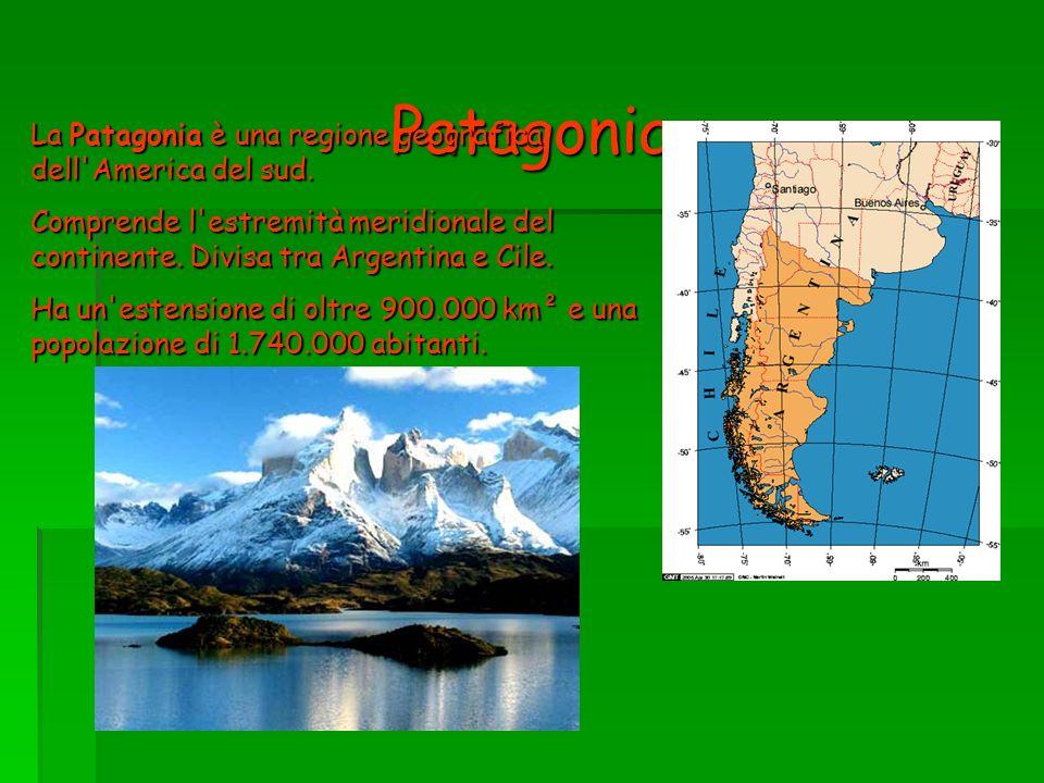 Patagonia La Patagonia è una regione geografica dell America del sud.