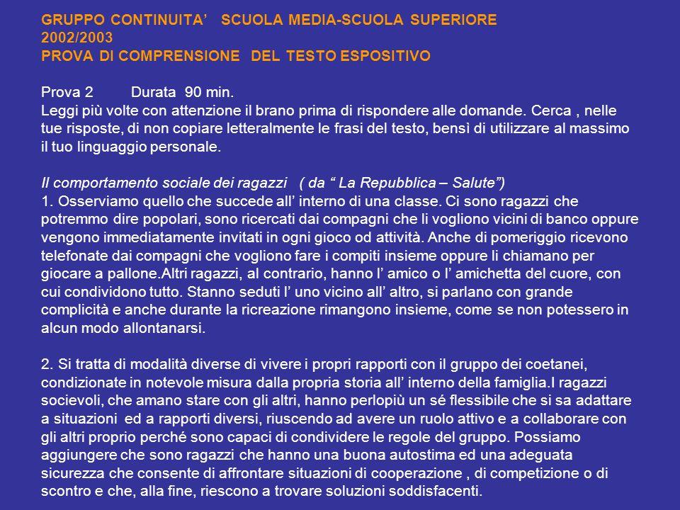 Uts alba bra gruppo di lavoro continuit medie inferiori medie superiori lingua italiana anno - Testo prima o poi gemelli diversi ...