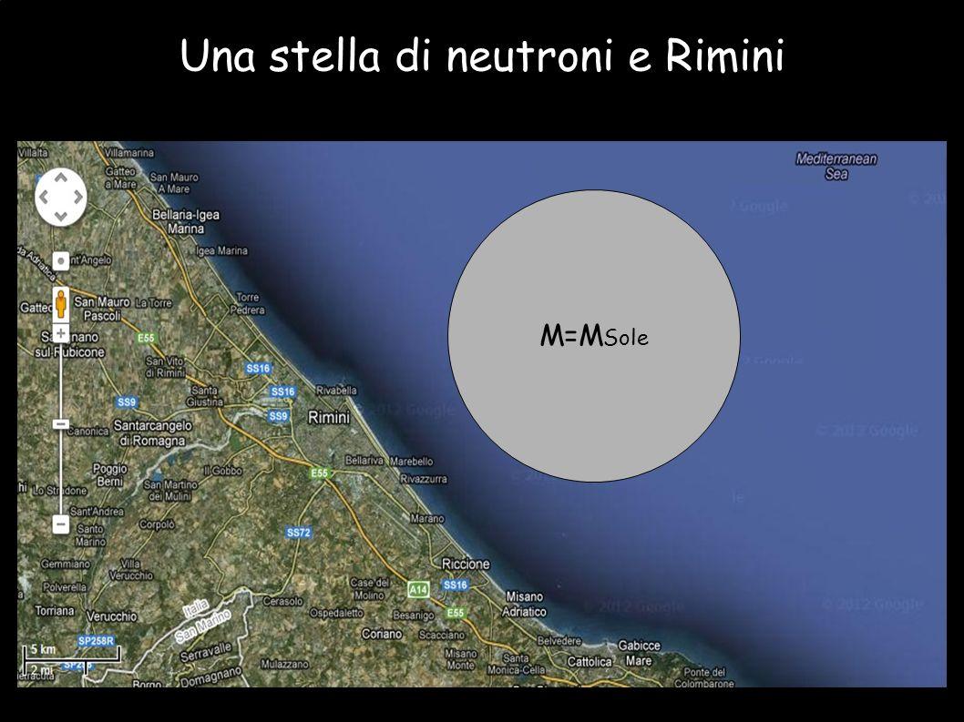 Una stella di neutroni e Rimini