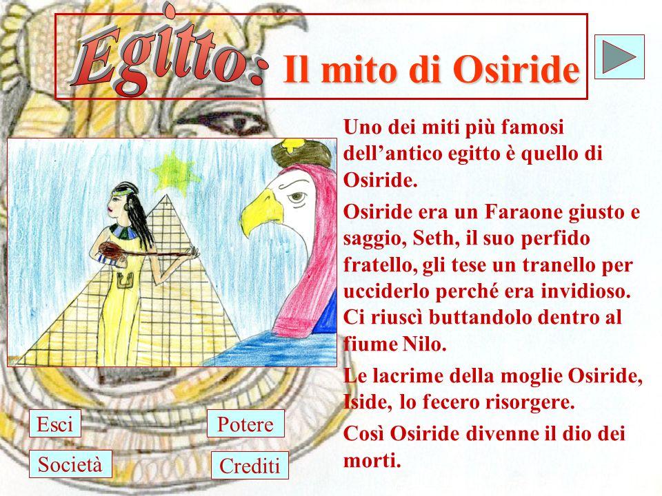 Egitto: Il mito di Osiride. Uno dei miti più famosi dell'antico egitto è quello di Osiride.