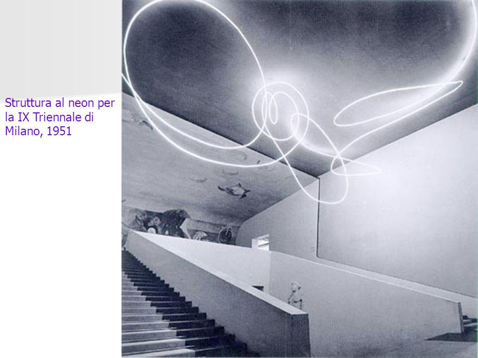Struttura al neon per la IX Triennale di Milano, 1951
