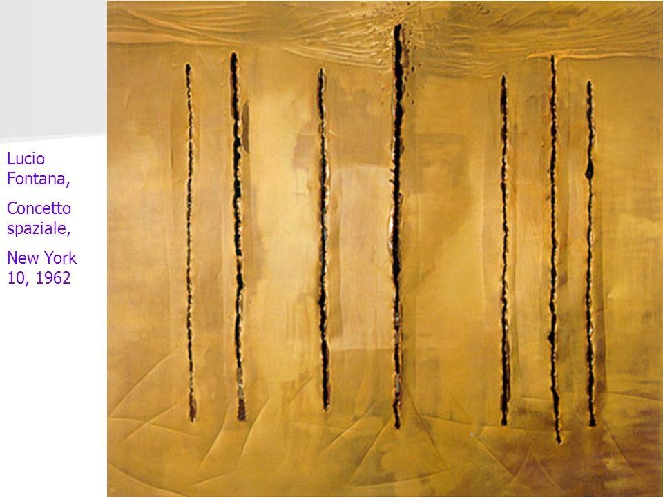 Lucio Fontana, Concetto spaziale, New York 10, 1962