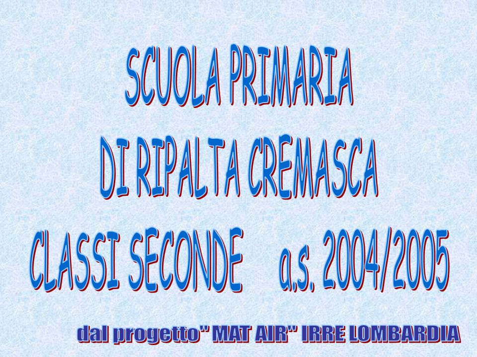 dal progetto MAT AIR IRRE LOMBARDIA