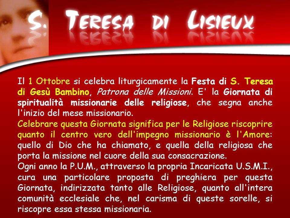 Il 1 Ottobre si celebra liturgicamente la Festa di S
