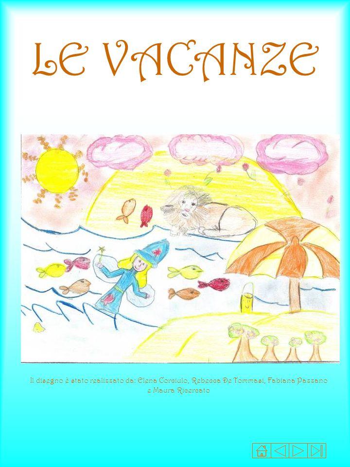 LE VACANZE Il disegno è stato realizzato da: Elena Corciulo, Rebecca De Tommasi, Fabiana Pazzano e Maura Ricercato.