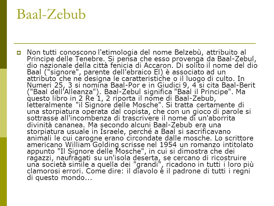 Baal-Zebub