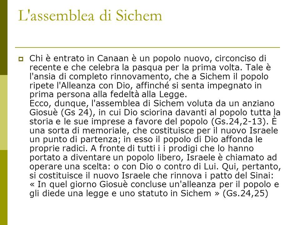 L assemblea di Sichem