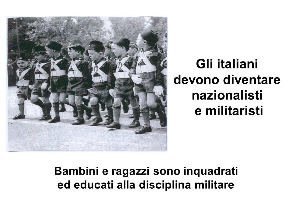 Gli italiani devono diventare nazionalisti e militaristi