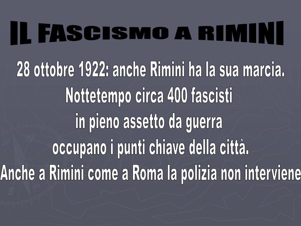 28 ottobre 1922: anche Rimini ha la sua marcia.