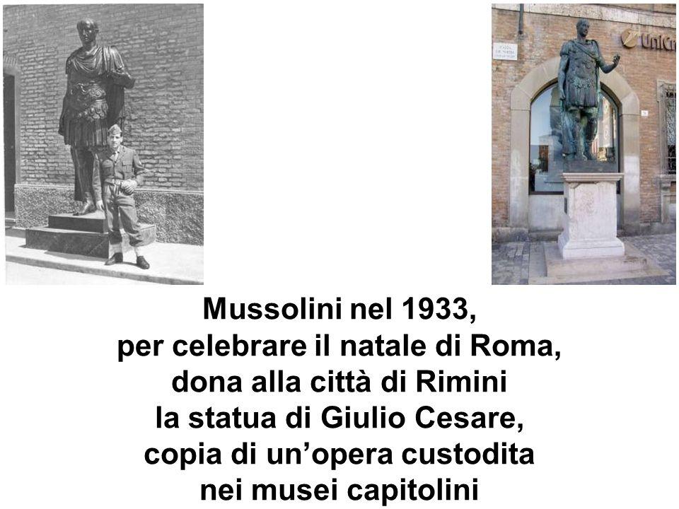 per celebrare il natale di Roma, dona alla città di Rimini