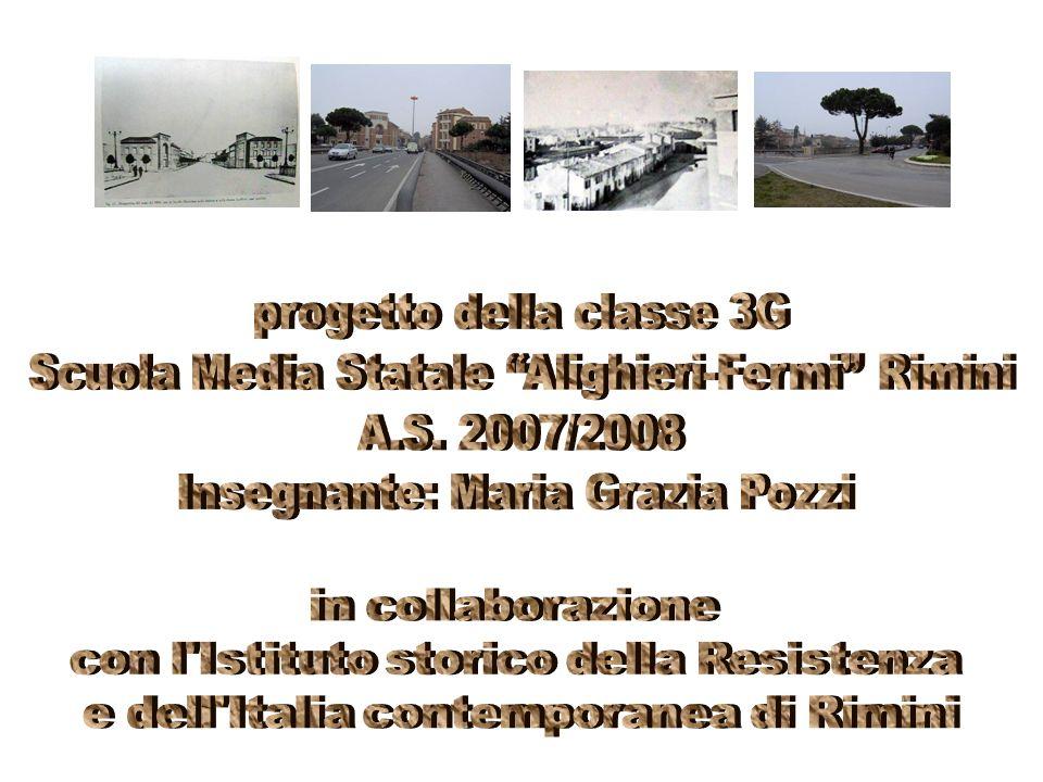 progetto della classe 3G Scuola Media Statale Alighieri-Fermi Rimini