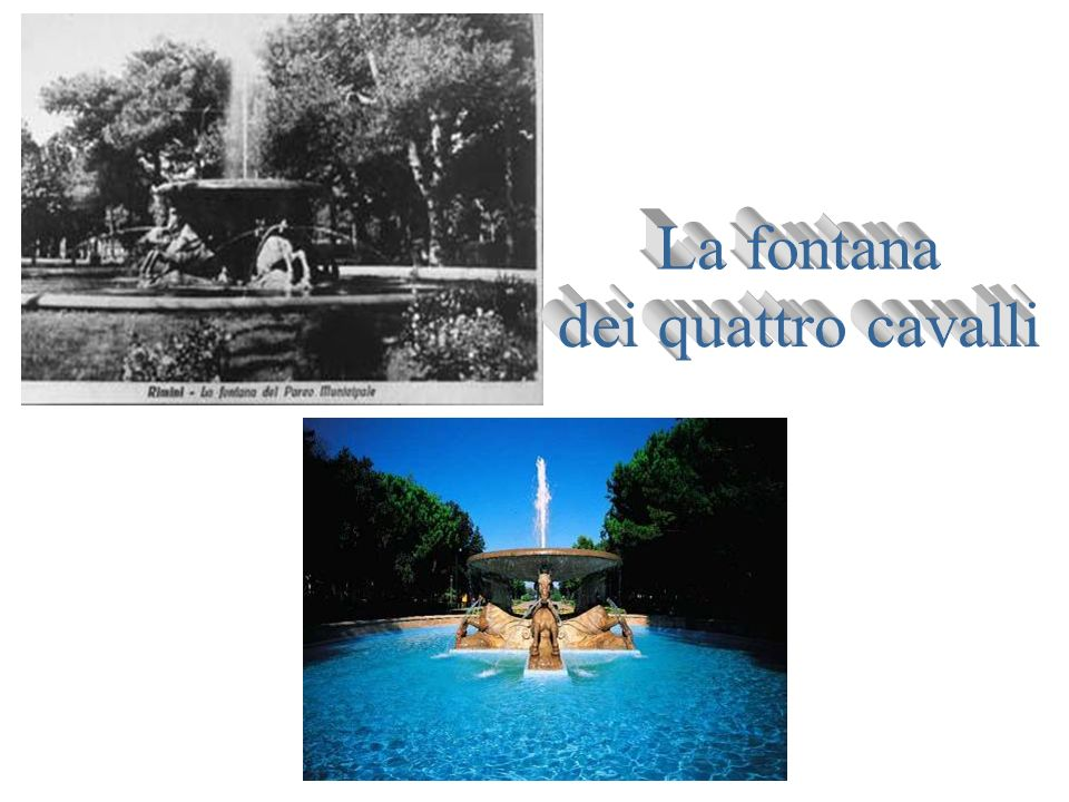 La fontana dei quattro cavalli
