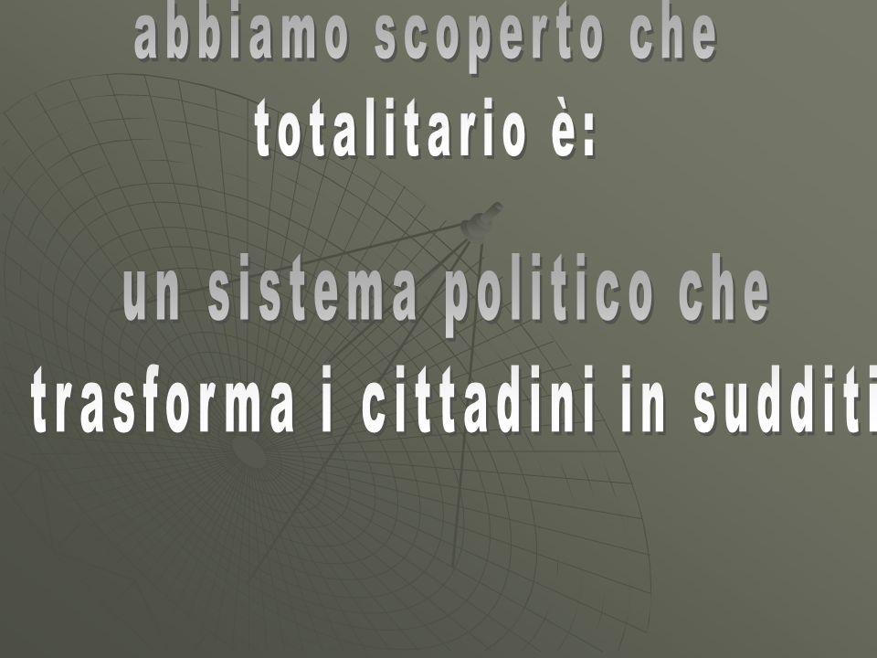 un sistema politico che trasforma i cittadini in sudditi