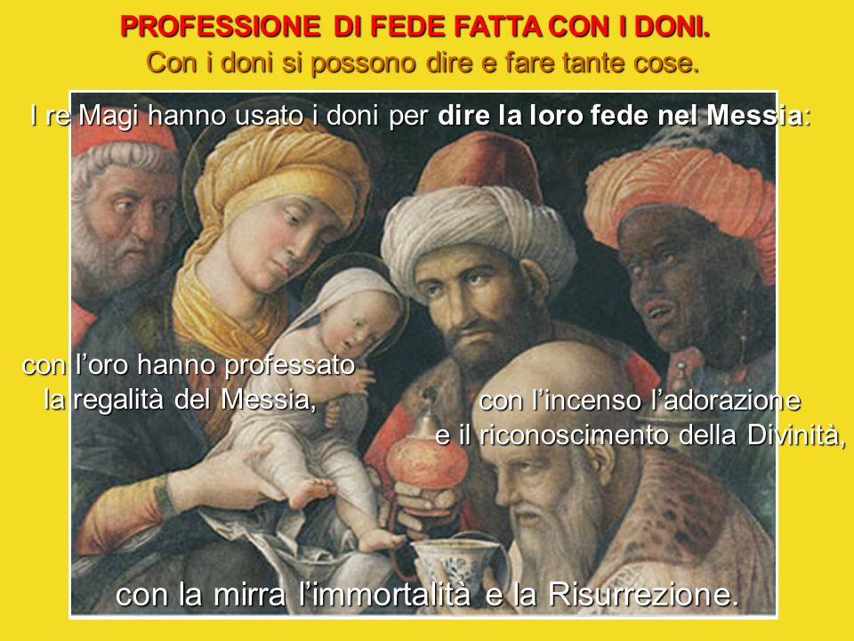 PROFESSIONE DI FEDE FATTA CON I DONI.