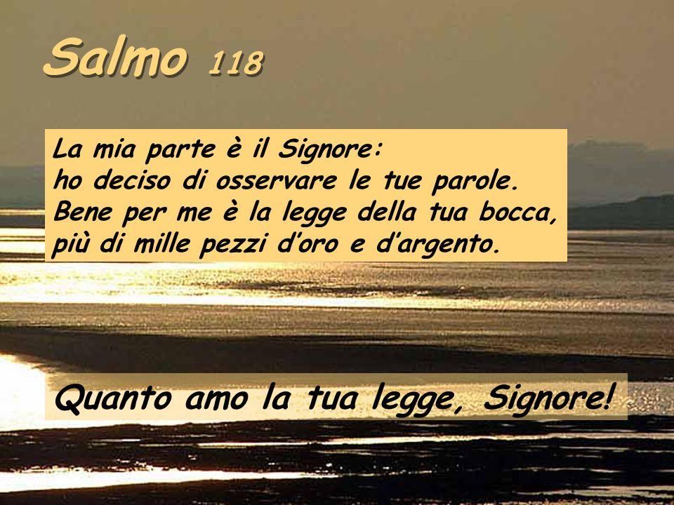 Salmo 118 Quanto amo la tua legge, Signore!