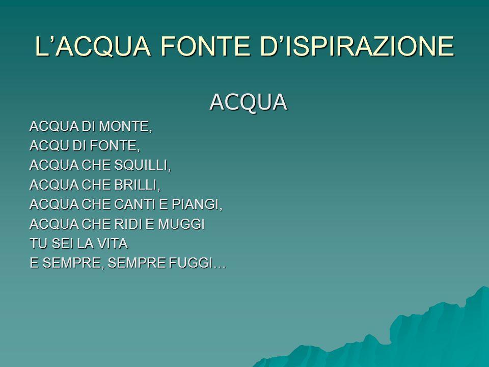 L'ACQUA FONTE D'ISPIRAZIONE