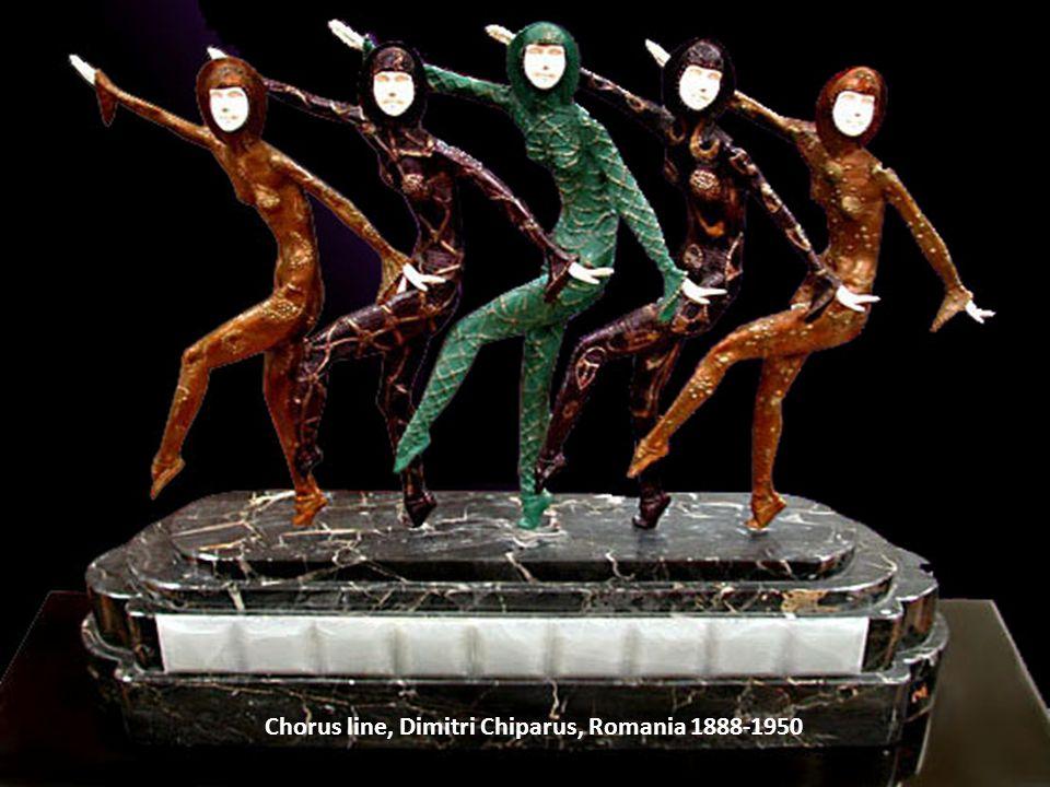 Chorus line, Dimitri Chiparus, Romania 1888-1950
