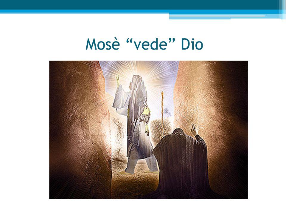 Mosè vede Dio ABISSO TRA DIO E CREATURA UMANA