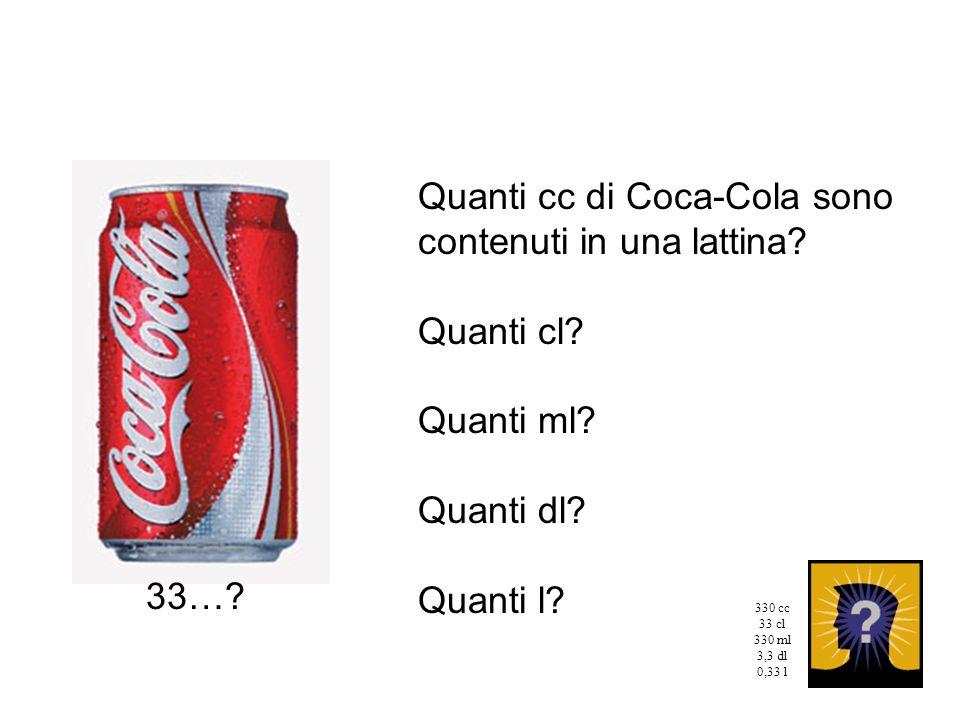 Quanti cc di Coca-Cola sono contenuti in una lattina