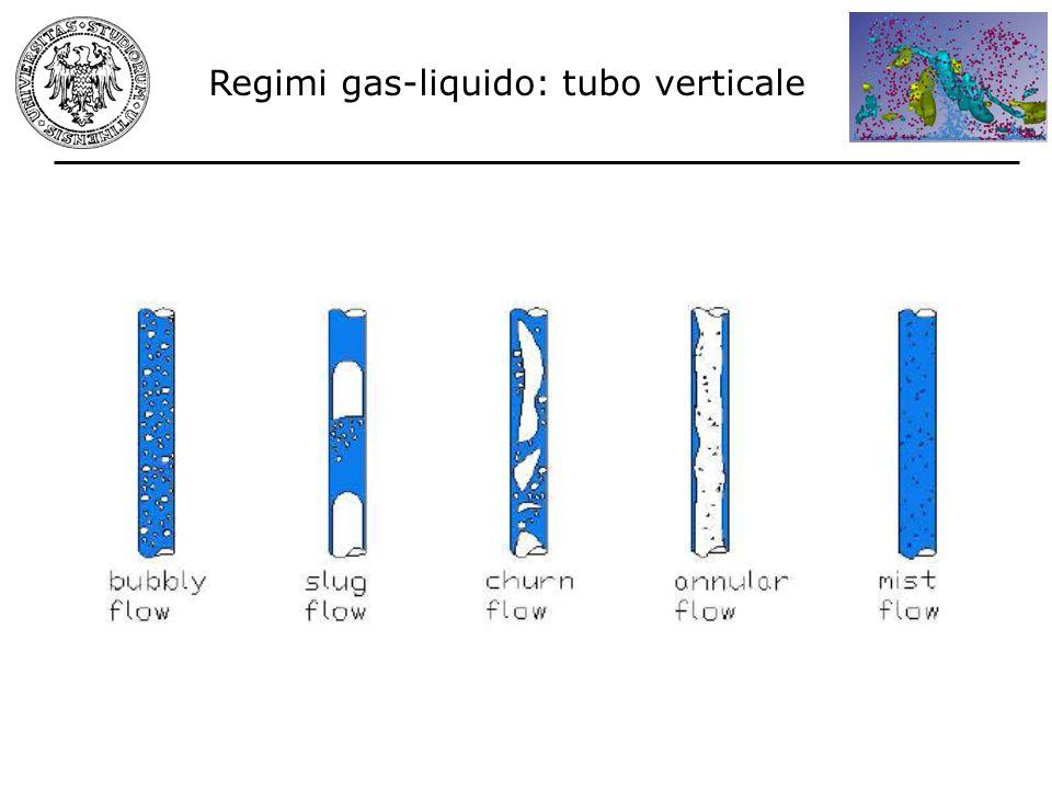 Regimi gas-liquido: tubo verticale