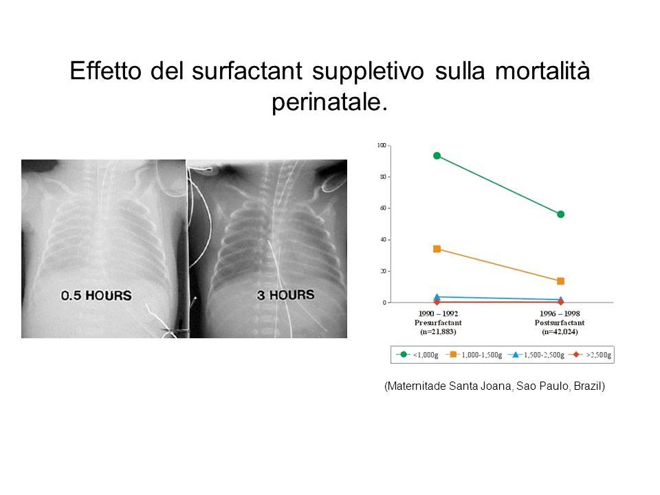 Effetto del surfactant suppletivo sulla mortalità perinatale.