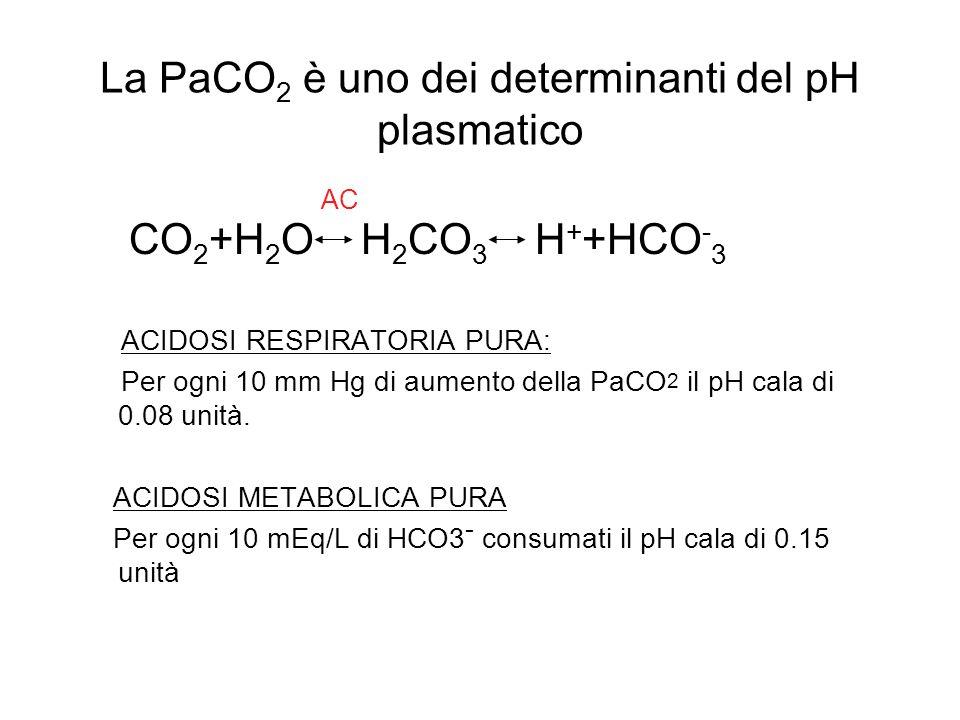 La PaCO2 è uno dei determinanti del pH plasmatico