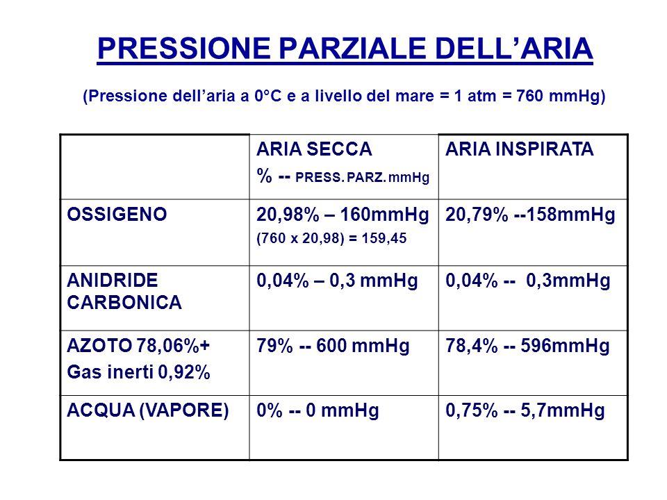 PRESSIONE PARZIALE DELL'ARIA