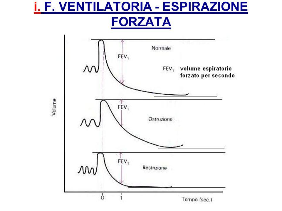 i. F. VENTILATORIA - ESPIRAZIONE FORZATA