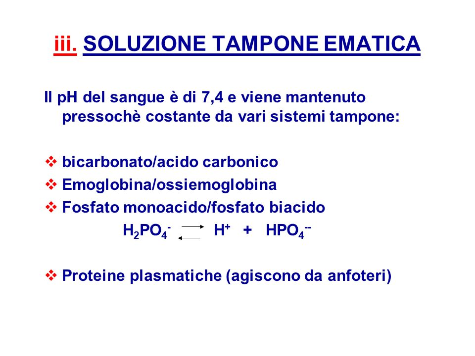 iii. SOLUZIONE TAMPONE EMATICA