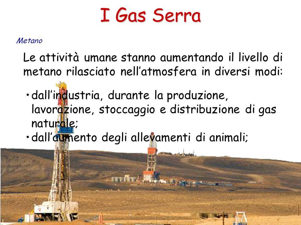 I Gas Serra Metano. Le attività umane stanno aumentando il livello di metano rilasciato nell'atmosfera in diversi modi: