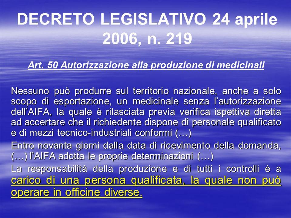 DECRETO LEGISLATIVO 24 aprile 2006, n. 219
