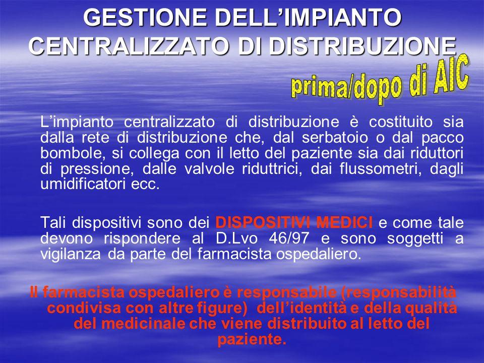 GESTIONE DELL'IMPIANTO CENTRALIZZATO DI DISTRIBUZIONE