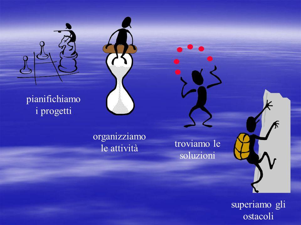 pianifichiamo i progetti organizziamo le attività troviamo le soluzioni superiamo gli ostacoli