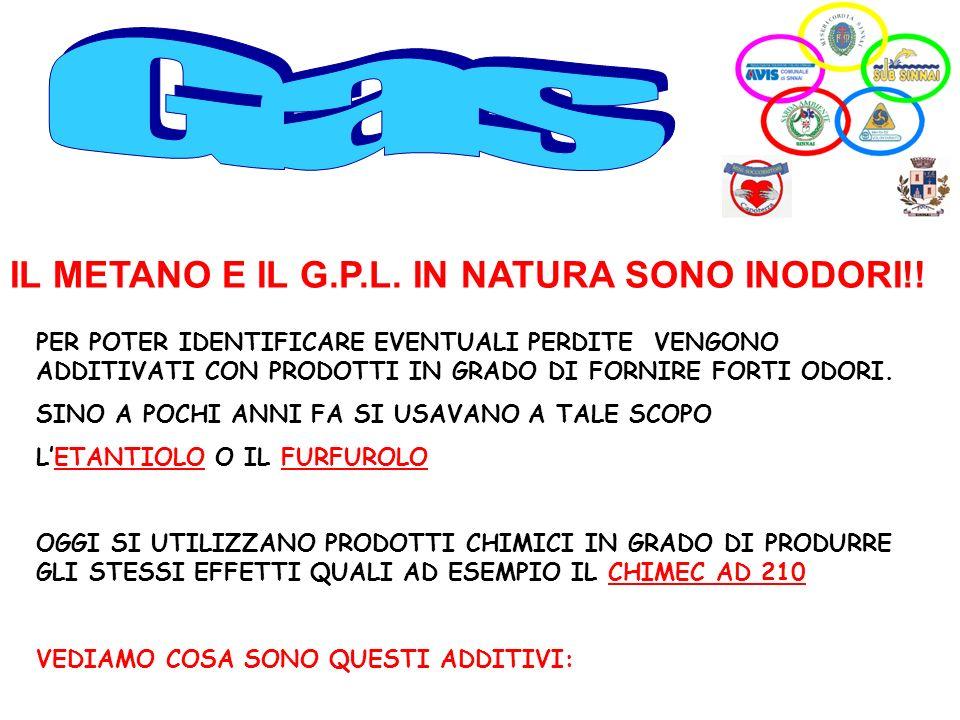 Gas IL METANO E IL G.P.L. IN NATURA SONO INODORI!!